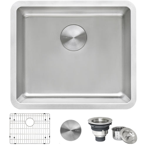 Ruvati 20-inch Undermount Bar Prep Kitchen Sink 16 Gauge Stainless Steel Single Bowl - RVM5020