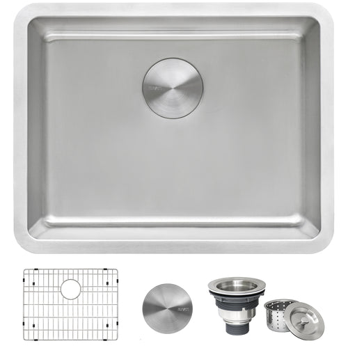 Ruvati 23-inch Undermount Kitchen Sink 16 Gauge Stainless Steel Single Bowl - RVM5908