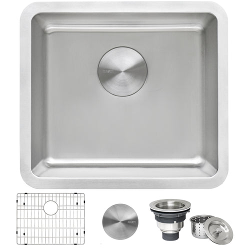 Ruvati 18-inch Undermount Bar Prep Kitchen Sink 16 Gauge Stainless Steel Single Bowl - RVM5916