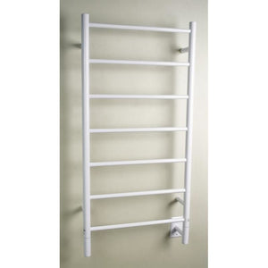 Amba F Straight 7 Bar Towel Warmer, White
