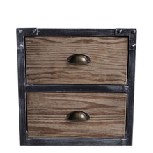 Load image into Gallery viewer, Nyx Industrial 3-Drawer End Table in Industrial Grey and Pine Wood