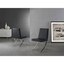Load image into Gallery viewer, LOFT Black Eco-leather Dining Chair by Casabianca Home