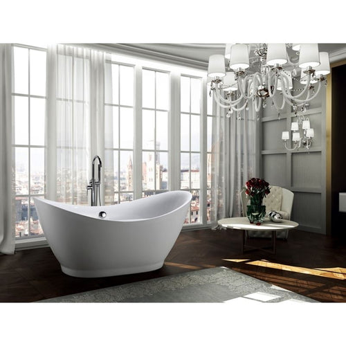 Salerno 68 inch Freestanding Bathtub in Glossy White