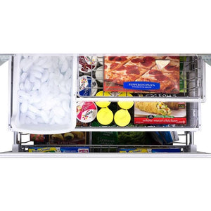 "36"" Marvel Elise Series French Door Counter Depth Refrigerator, Ivory"