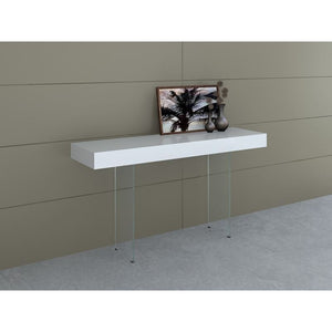 IL VETRO High Gloss White Lacquer Console Table by Casabianca Home