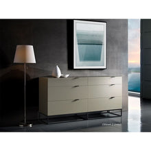 Load image into Gallery viewer, VIZZIONE High Gloss Gray Lacquer Tall Dresser/ Nightstand by Casabianca Home