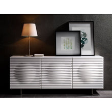 Load image into Gallery viewer, MOON High Gloss White Lacquer Buffet by Casabianca Home