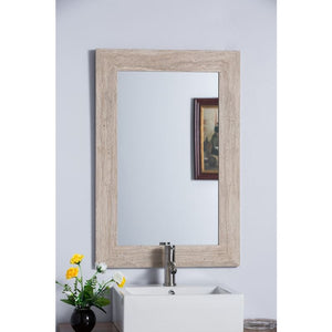 Bellaterra Travertine Stone Frame Mirror