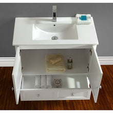 "Load image into Gallery viewer, Adornus Lombardi 30"" White Single Bathroom Vanity with mirror"