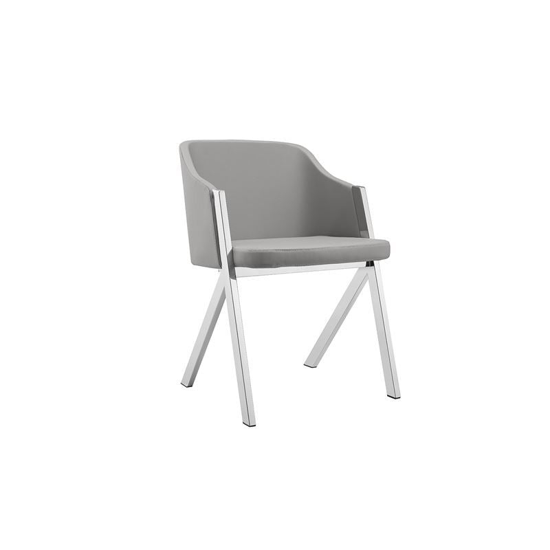 ACORN Dark Gray Eco-leather Arm Dining Chair by Casabianca Home