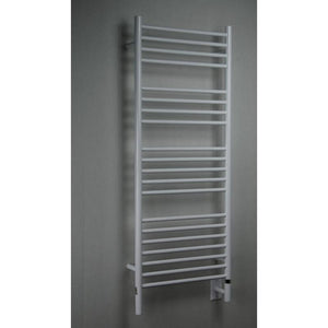 Amba D Straight 20 Bar Towel Warmer, White