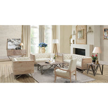 Load image into Gallery viewer, Regis Cream Sofa With Pine Frame And Gunmetal Legs