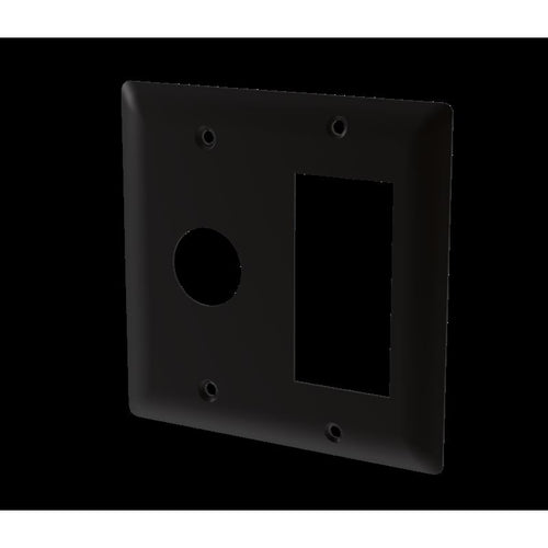 Amba Jeeves Double Gang Plate, Matte Black