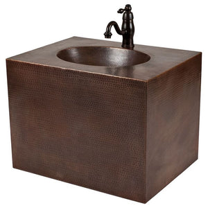 "24"" Copper Wall Mount Vanity and Faucet Package"
