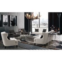 Load image into Gallery viewer, Skyline Loveseat In White Bonded Leather