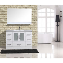 "Load image into Gallery viewer, Adornus Alva White 48"" Single Bathroom Vanity with mirror"