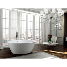 Load image into Gallery viewer, Udine 67 inch Freestanding Bathtub in Glossy White