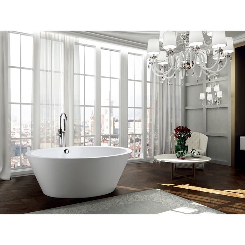 Udine 67 inch Freestanding Bathtub in Glossy White