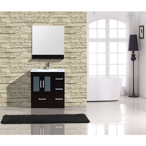 "Adornus Alva Espresso 30"" Single Bathroom Vanity with mirror"