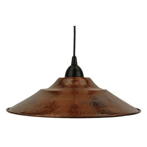 "Hand Hammered Copper 13"" Large Pendant Light"