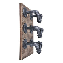 Load image into Gallery viewer, Hawk Industrial Wine Rack in Industrial Grey and Pine Wood