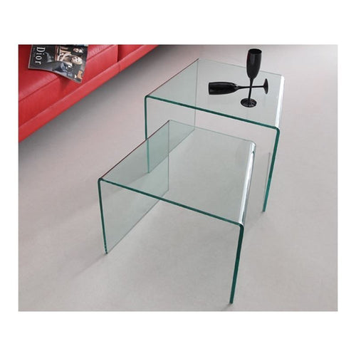 ANGOLO Clear End Table by Casabianca Home