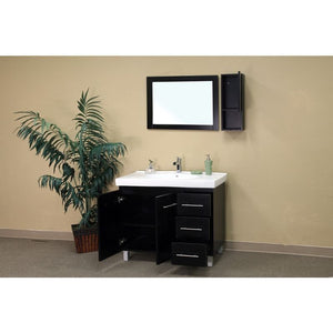 Bellaterra 39 In Single Sink Vanity Wood Black  Right Side Drawers