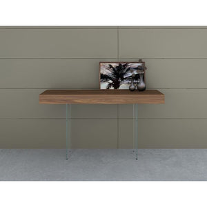 IL VETRO Walnut Veneer Console Table by Casabianca Home