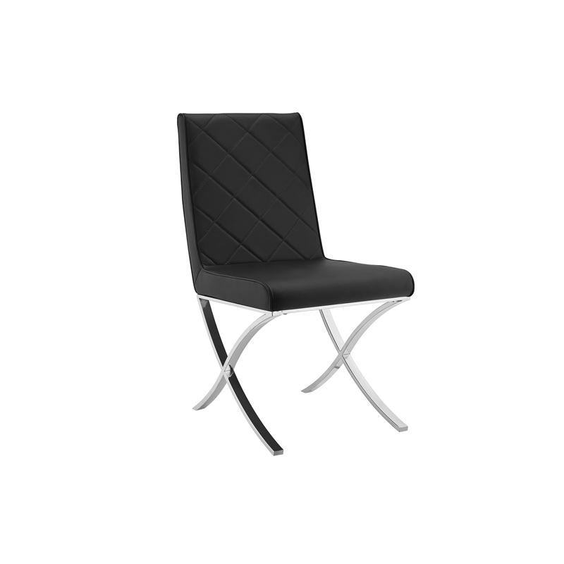 LOFT Black Eco-leather Dining Chair by Casabianca Home