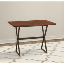 Load image into Gallery viewer, Valencia Contemporary Rectangular Bar Table in Auburn Bay Finish with Sedona Wood Top