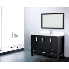 "Load image into Gallery viewer, Adornus Astoria Vanity, Espresso, 49.5"" with Quartz Top"