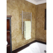 Load image into Gallery viewer, Amba E Curved 12 Bar Towel Warmer, Brushed