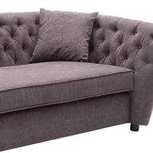 Load image into Gallery viewer, Rhianna Transitional Loveseat in Brown Tufted Chair