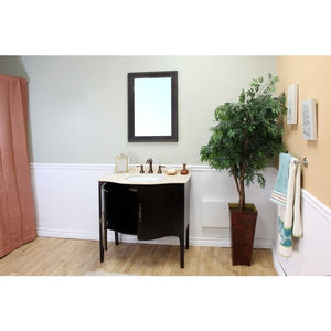 Bellaterra 36.6 In Single Sink Vanity Wood Espresso