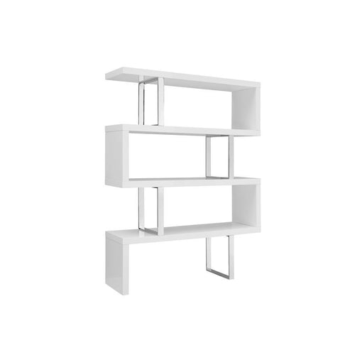 SCALA High Gloss White Lacquer Bookcase by Casabianca Home