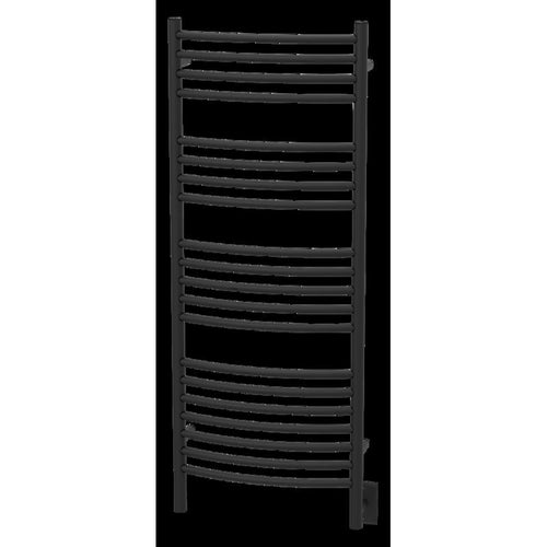 Amba D Curved 20 Bar Towel Warmer, Matte Black