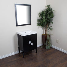 Load image into Gallery viewer, Bellaterra 25 In Single Sink Vanity Wood Black