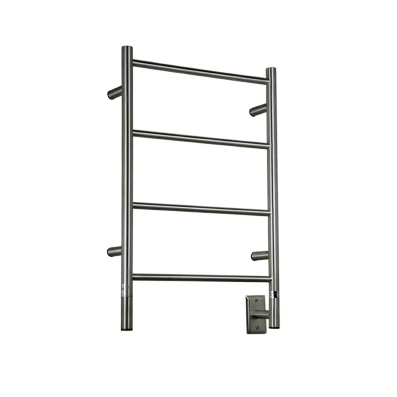 Amba I Straight 4 Bar Towel Warmer, Brushed