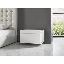 Load image into Gallery viewer, IL VETRO High Gloss White Lacquer Nightstand / End Table by Casabianca Home