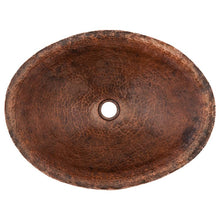 Load image into Gallery viewer, Oval Hand Forged Old World Copper Vessel Sink