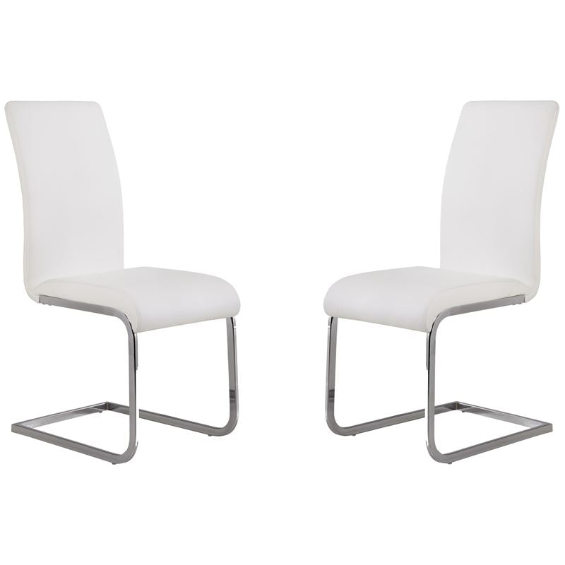 Amanda White Side Chair - Set of 2