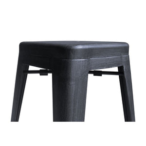"Zed Industrial 26"" Counter Height Backless Barstool in Industrial Grey"