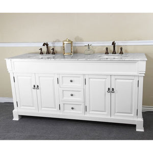 Bellaterra 72 In Double Sink Vanity Wood Espresso 205072-D-WH