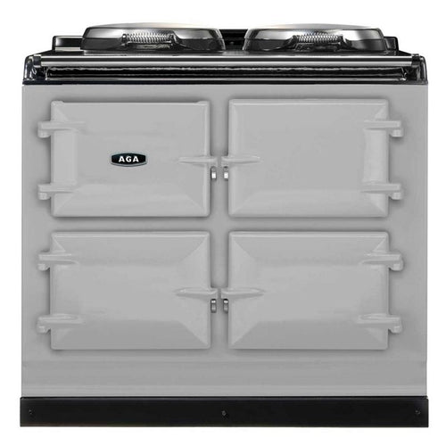 AGA Total Control Cast Iron 3-Oven Electric Range PEARL ASHES