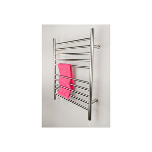 Amba Radiant Plug-in Straight 10 Bar Towel Warmer, Polished