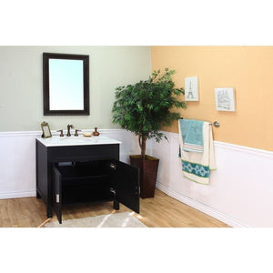 Bellaterra 36 In Single Sink Vanity Wood Ebony