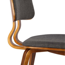 Load image into Gallery viewer, Jaguar Mid-Century Dining Chair in Walnut Wood and Charcoal Fabric