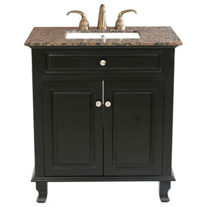 Bellaterra 32 In Single Sink Vanity Wood Ebony 603215-32B-BB