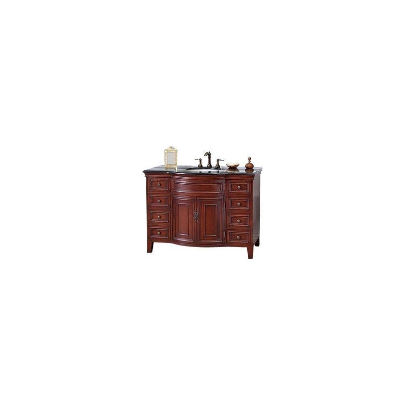 Bellaterra 48 In Single Sink Vanity Wood Light Walnut 605115