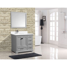 "Load image into Gallery viewer, Adornus Cambridge Grey 36"" Single Bathroom Vanity with mirror"